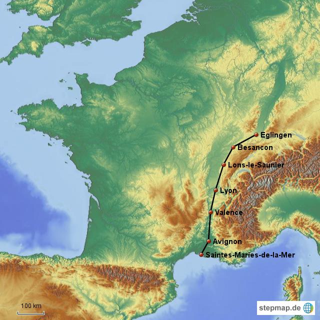 Camargue Karte.Stepmap La Camargue En Autonne Herbst Landkarte Für Frankreich