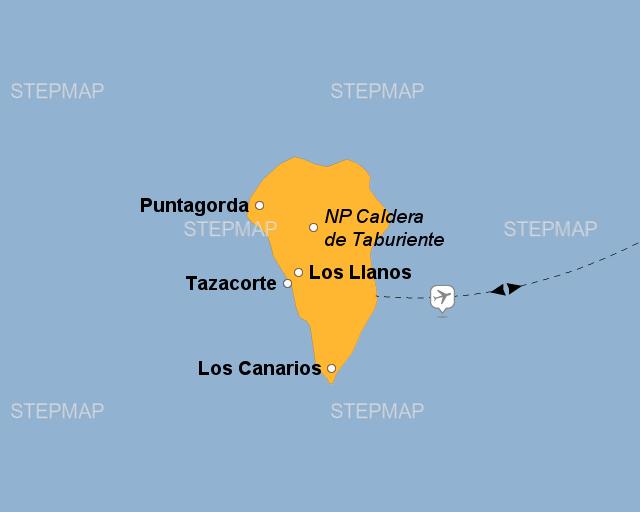 stepmap la palma landkarte f r spanien. Black Bedroom Furniture Sets. Home Design Ideas