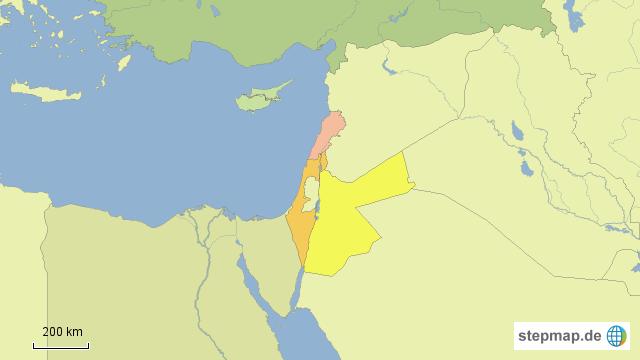 Naher Osten Karte Ohne Beschriftung.Stepmap Länder Naher Osten Landkarte Für Asien