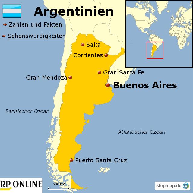 argentinien landkarte StepMap   Länder der Welt: Argentinien   Landkarte für Argentinien argentinien landkarte