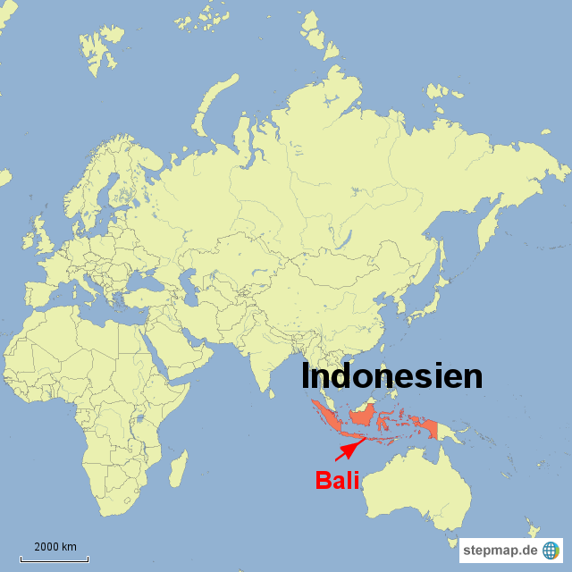 bali karte welt StepMap   Lage Bali in Indonesien Asien   Landkarte für Indonesien bali karte welt