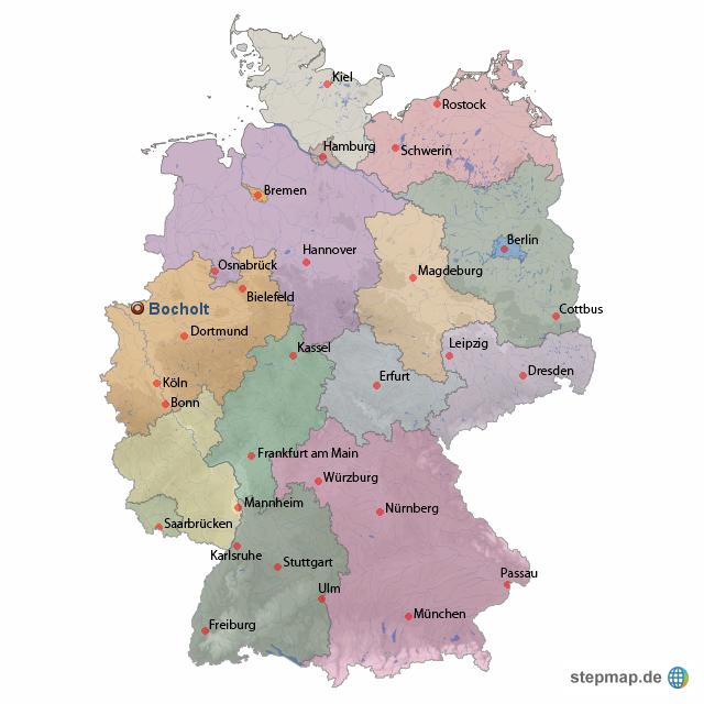 bocholt karte StepMap   Lage Bocholt   Landkarte für Deutschland bocholt karte