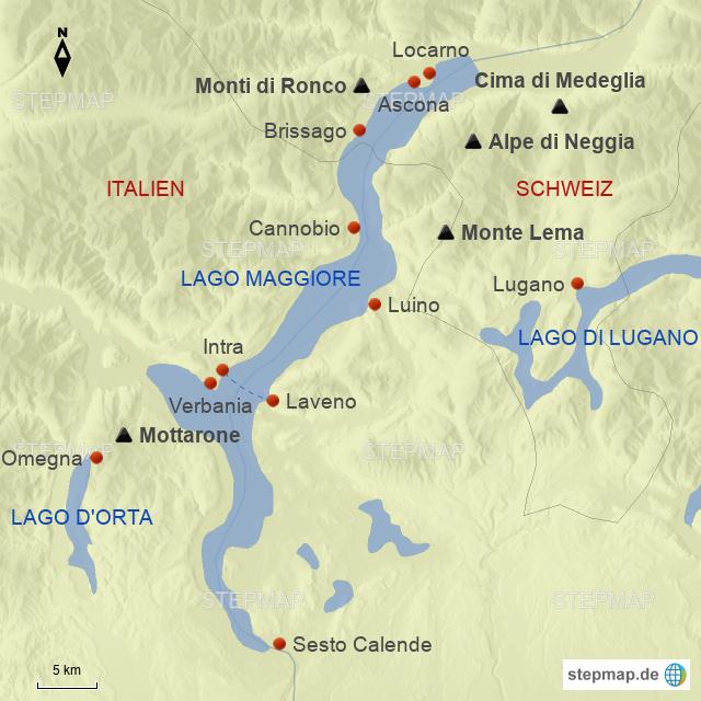 Lago Maggiore Karte.Stepmap Lago Maggiore Landkarte Für Deutschland