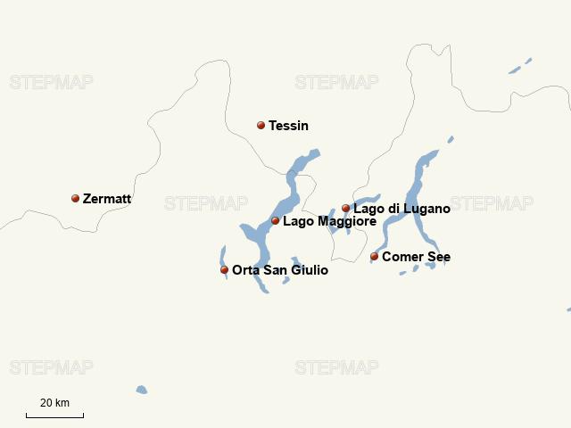 Lago Maggiore Karte.Stepmap Lago Maggiore Die Schweizer Bergwelt Landkarte Für