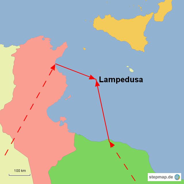 Italien Karte Lampedusa.Stepmap Lampedusa Landkarte Fur Italien