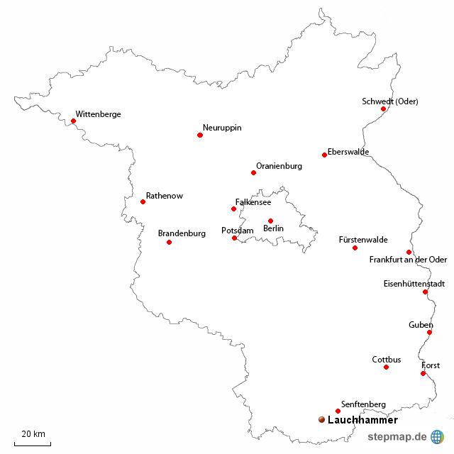 Land Brandenburg Karte.Stepmap Land Brandenburg Landkarte Für Deutschland