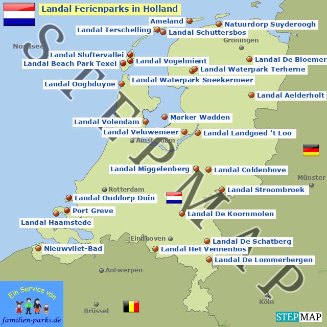 Karte Von Holland Landkarte Niederlande.Stepmap Landal Ferienparks In Holland Landkarte Für Niederlande