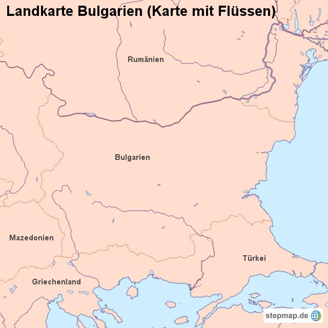 Karte Bulgarien.Stepmap Landkarte Bulgarien Karte Mit Flussen