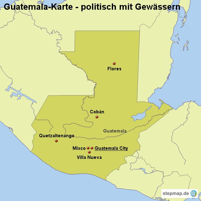 Guatemala Karte.Stepmap Landkarte Guatemala Karte Politisch Mit Gewässern