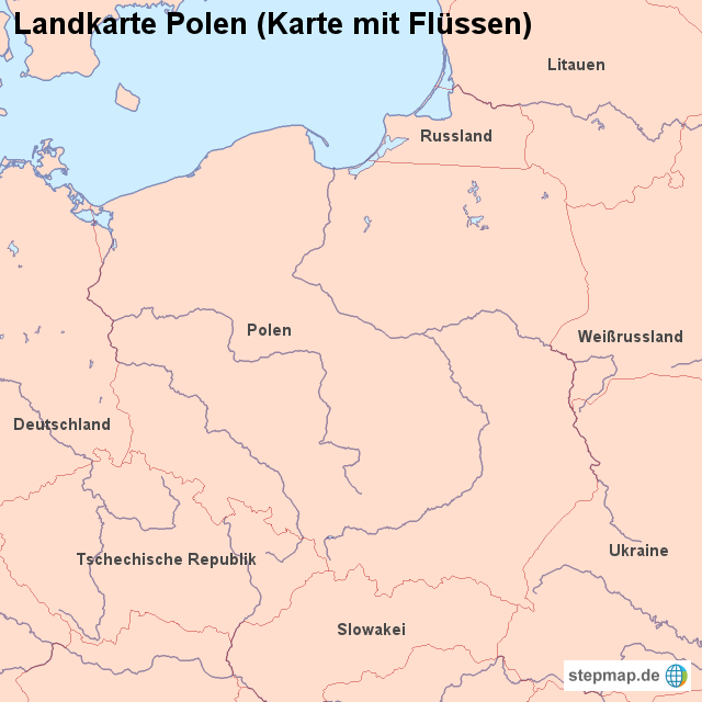 Stepmap Landkarte Polen Karte Mit Flussen Landkarte Fur Polen