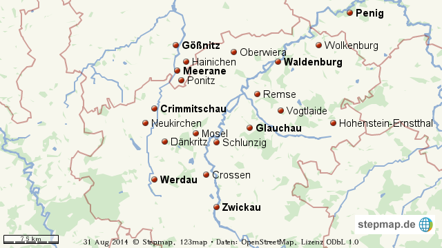 Zwickau Karte.Stepmap Landkreis Zwickau Umgebung Landkarte Für Welt