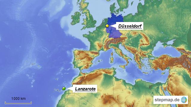 lanzarote weltkarte StepMap   Lanzarote   Landkarte für Deutschland lanzarote weltkarte