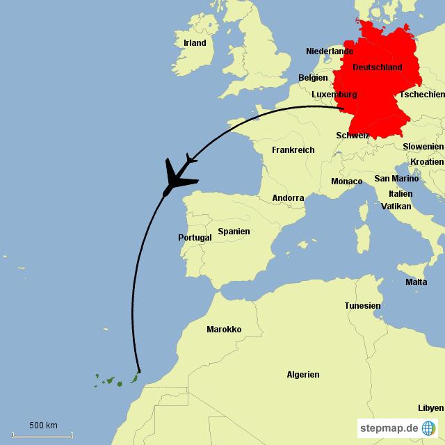 karte lanzarote StepMap   Lanzarote   Landkarte für Deutschland