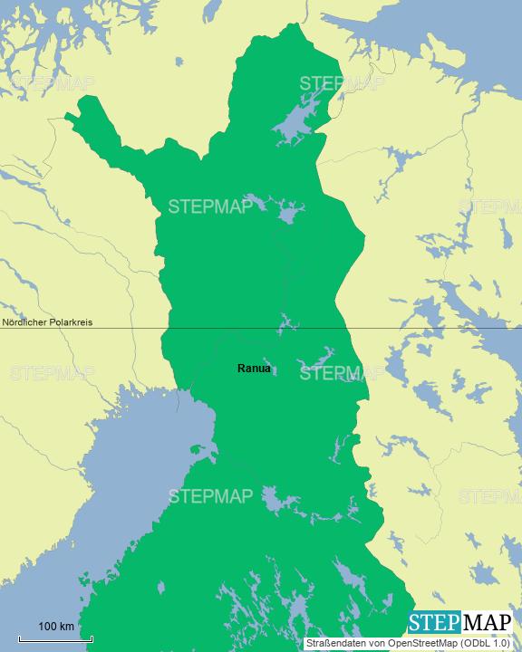 Lappland Karte.Stepmap Lappland 2019 Landkarte Für Finnland