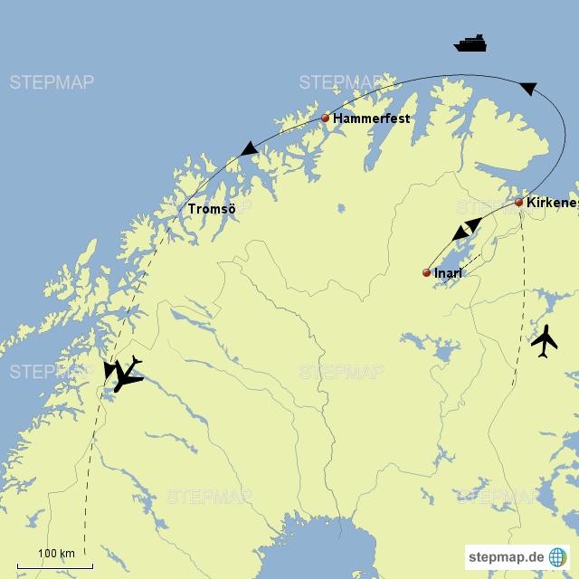 Lappland Karte.Stepmap Lappland Im Herzen Der Arktis Landkarte Für Norwegen
