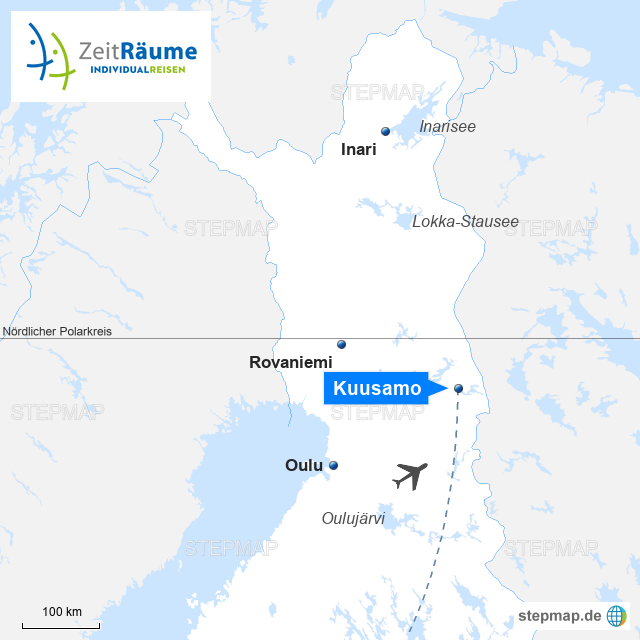 Lappland Karte.Stepmap Lappland Winter Reise Kuusamo Winterauszeit Für Körper