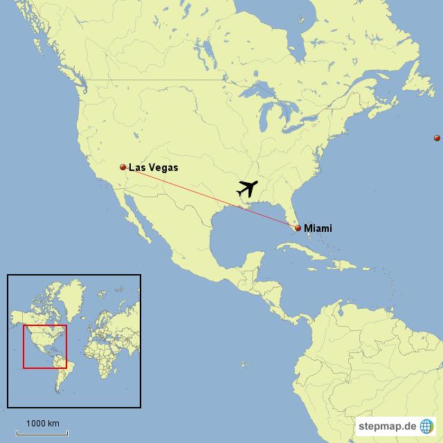 Landkarte Las Vegas