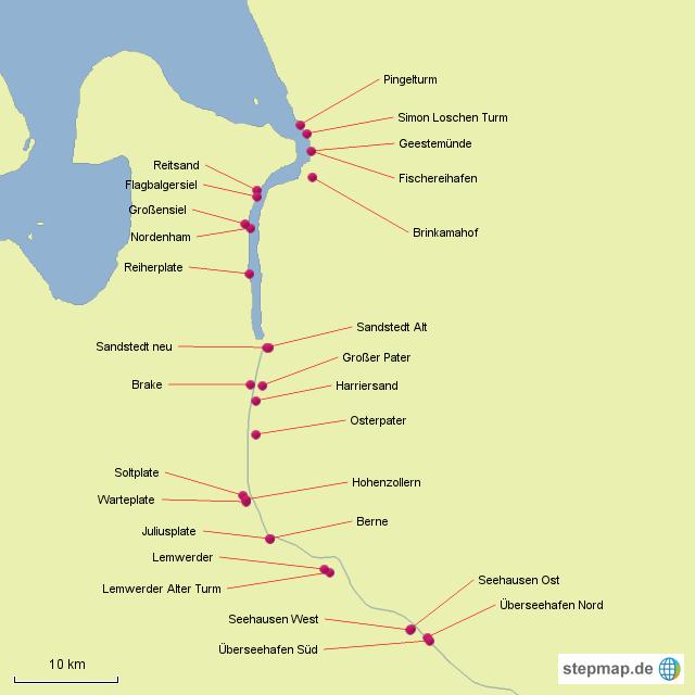 leuchttürme deutschland karte StepMap   Leuchttürme Deutschland   Landkarte für Deutschland leuchttürme deutschland karte