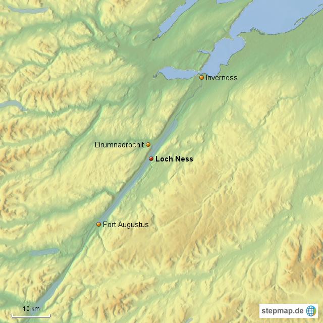 Loch Ness Karte.Stepmap Loch Ness Landkarte Für Großbritannien