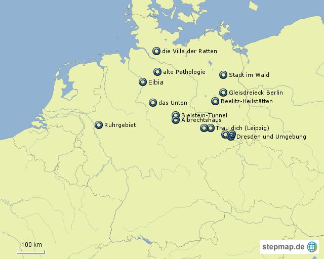 lost places karte StepMap   LostPlaces   Landkarte für Deutschland