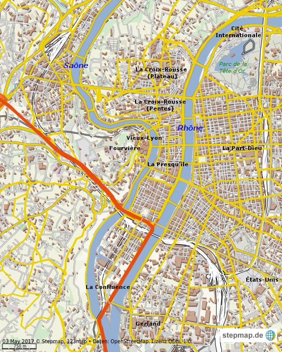 Lyon Karte.Stepmap Lyon Landkarte Fur Welt