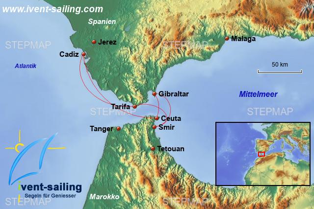 Meerenge Von Gibraltar Karte.Stepmap M Walewatching In Der Strasse Von Gibraltar