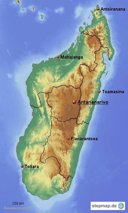 Madagaskar Karte.Stepmap Madagaskar Im Uberblick Landkarte Fur Madagaskar
