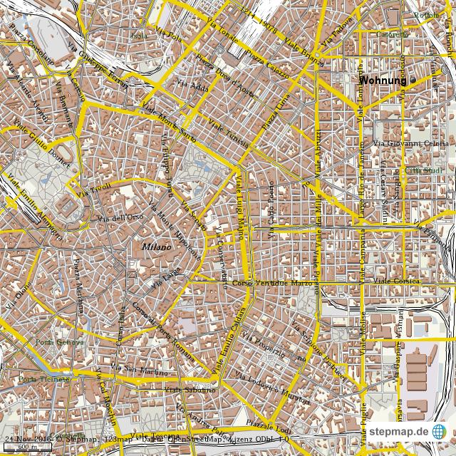 Stadtplan Mailand