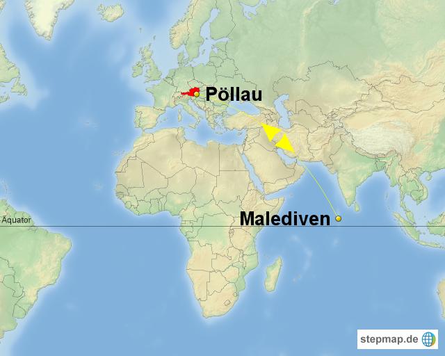 malediven landkarte StepMap   Malediven   Landkarte für Deutschland malediven landkarte