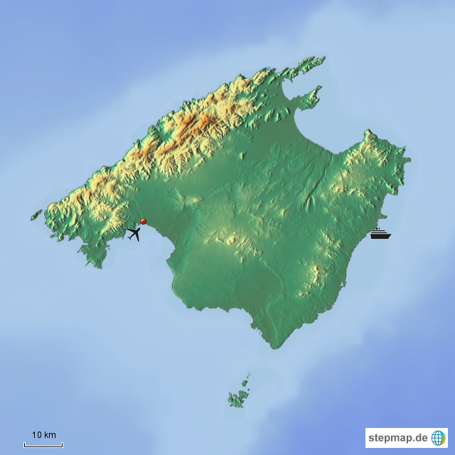 Mallorca Karte Umriss.Stepmap Mallorca Landkarte Fur Spanien
