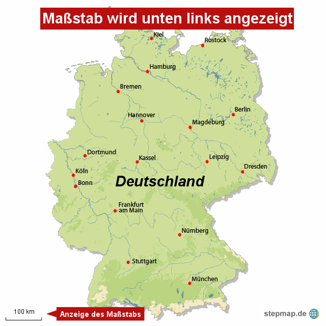 stepmap ma stab landkarte f r deutschland. Black Bedroom Furniture Sets. Home Design Ideas