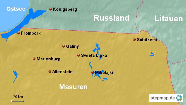 masuren landkarte StepMap   Masuren   Landkarte für Polen masuren landkarte