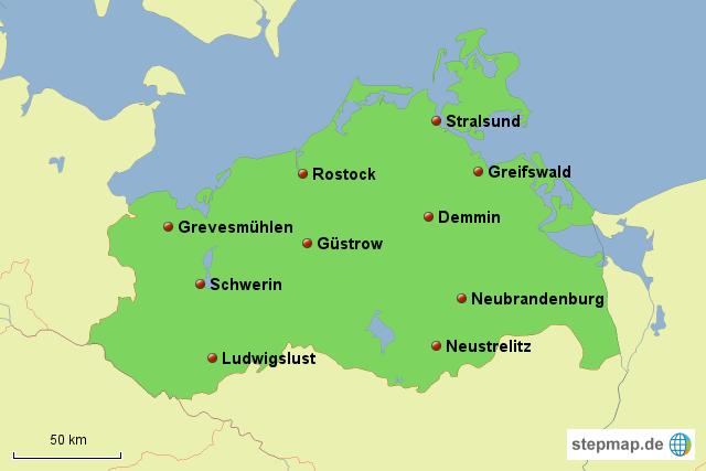 stepmap mecklenburg vorpommern landkarte f r deutschland. Black Bedroom Furniture Sets. Home Design Ideas