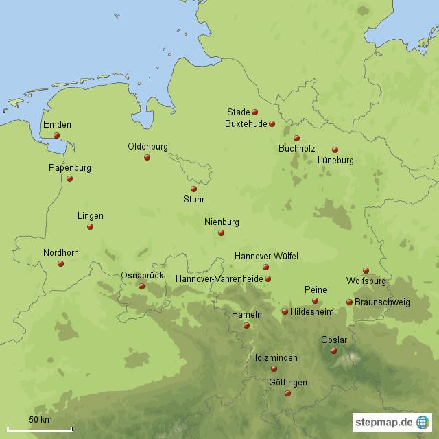 stepmap media markt niedersachsen landkarte f r deutschland. Black Bedroom Furniture Sets. Home Design Ideas