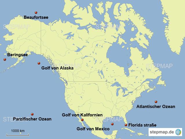Golf Von Alaska Karte.Stepmap Meerre Ozeane Usa Landkarte Fur Deutschland