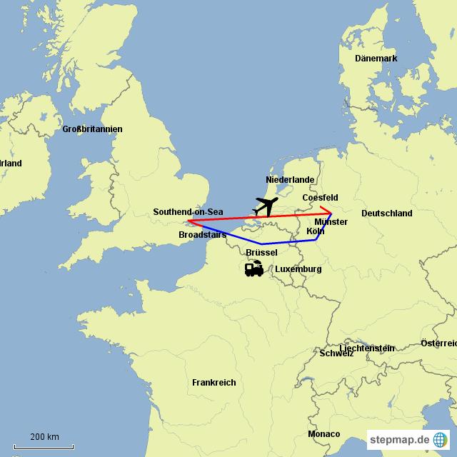 karte deutschland england StepMap   Meine cränke reise nach england   Landkarte für Deutschland