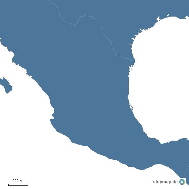 Mexiko Karte Umriss.Stepmap Mexiko Landkarte Fur Mexiko