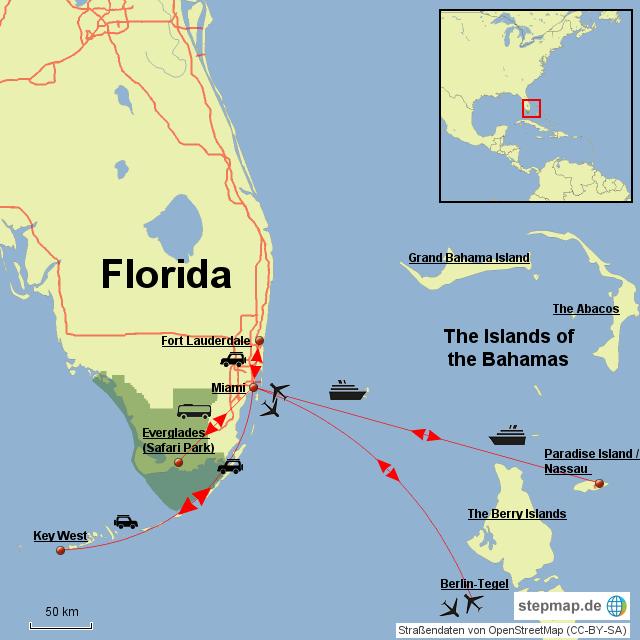 Karte Florida Miami.Stepmap Miami Florida 2013 Landkarte Fur Nordamerika