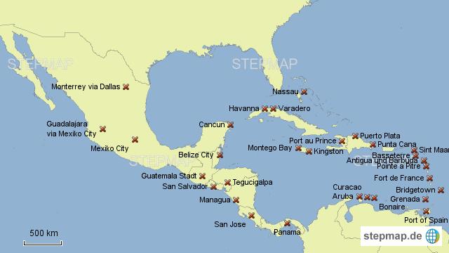 Karibik Karte.Stepmap Mittelamerika Karibik Landkarte Für Nordamerika