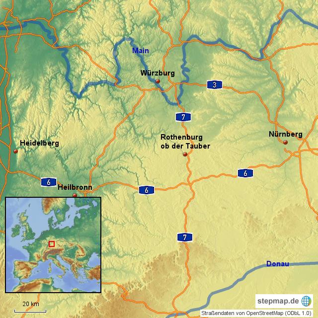 Mittelfranken Karte.Stepmap Mittelfranken 2 Landkarte Fur Deutschland