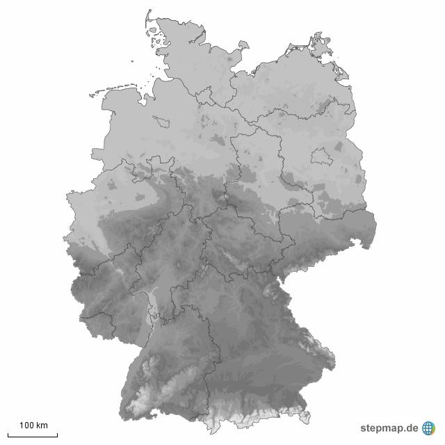 Mittelgebirge Deutschland Karte.Stepmap Mittelgebirge In Deutschland Landkarte Für Deutschland