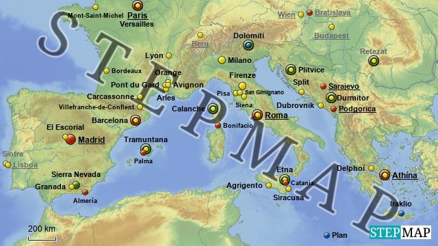 Mittelmeer Karte.Stepmap Mittelmeer Landkarte Für Europa
