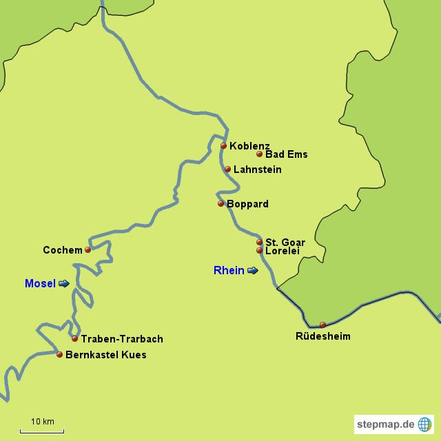 Mittelrheintal Karte.Stepmap Mittelrhein Landkarte Fur Deutschland