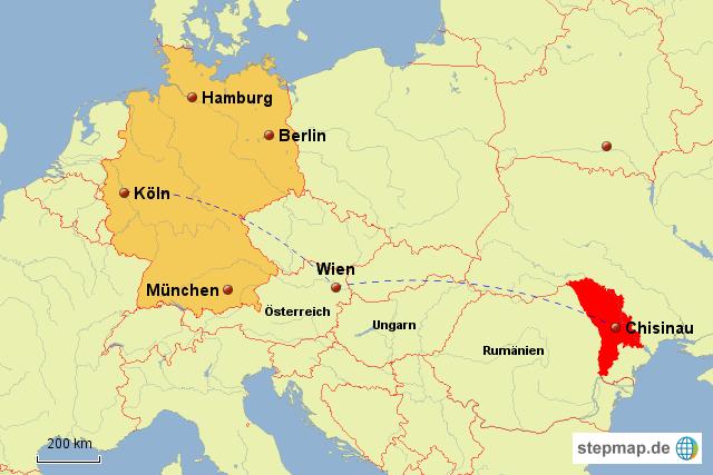 Stepmap Moldawien Lage Ii Landkarte Fur Moldawien