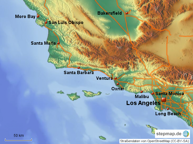 malibu karte StepMap   Moro Bay Malibu   Landkarte für Nordamerika