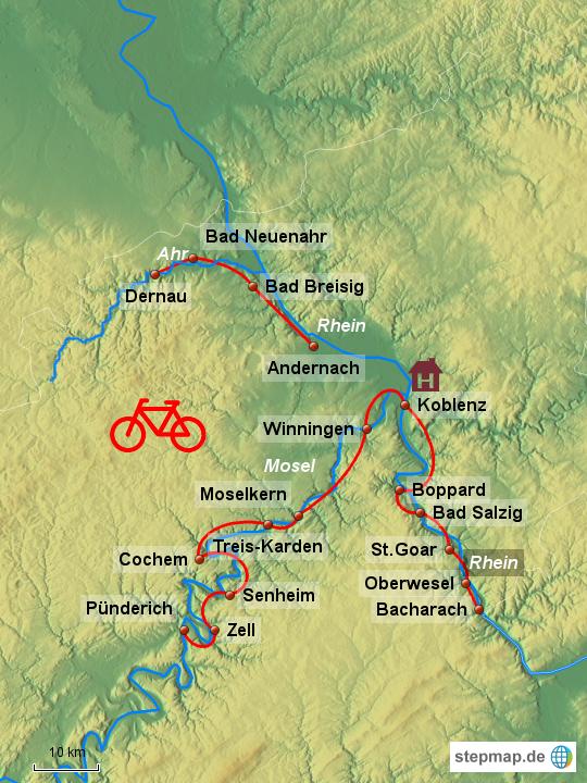 landkarte mosel StepMap   Mosel , Rhein  und Ahrtal   Landkarte für Deutschland landkarte mosel
