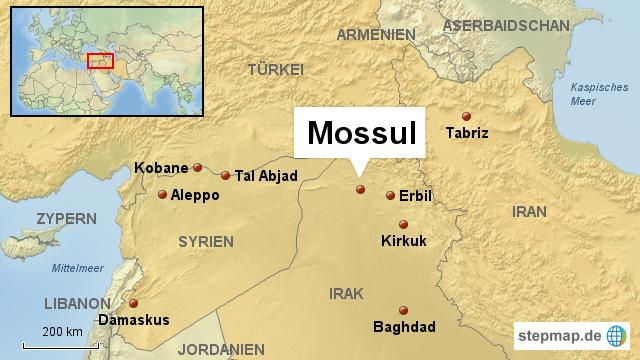 mossul karte StepMap   Mossul Irak   Landkarte für Irak