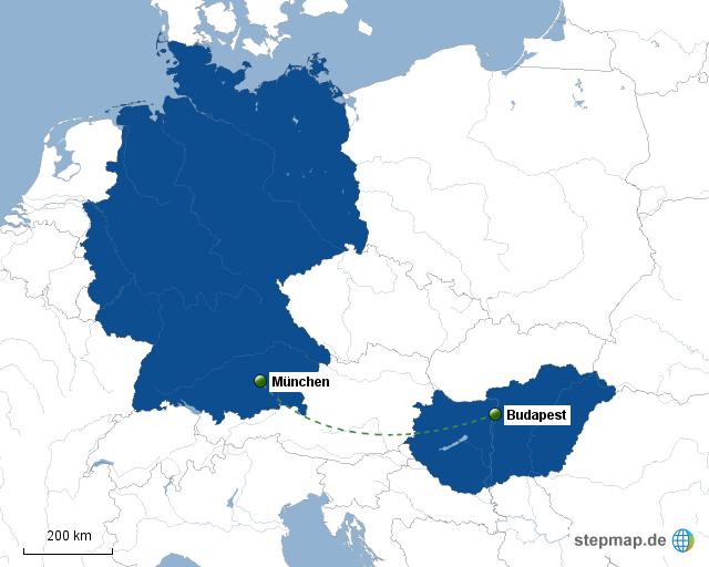 Stepmap München Budapest Landkarte Für Deutschland