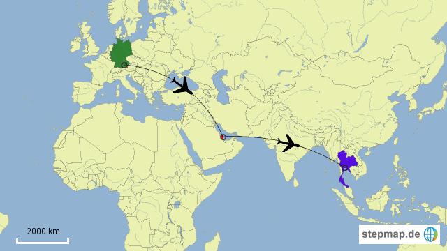 doha weltkarte StepMap   München   Doha   Bangkok   Landkarte für Deutschland doha weltkarte