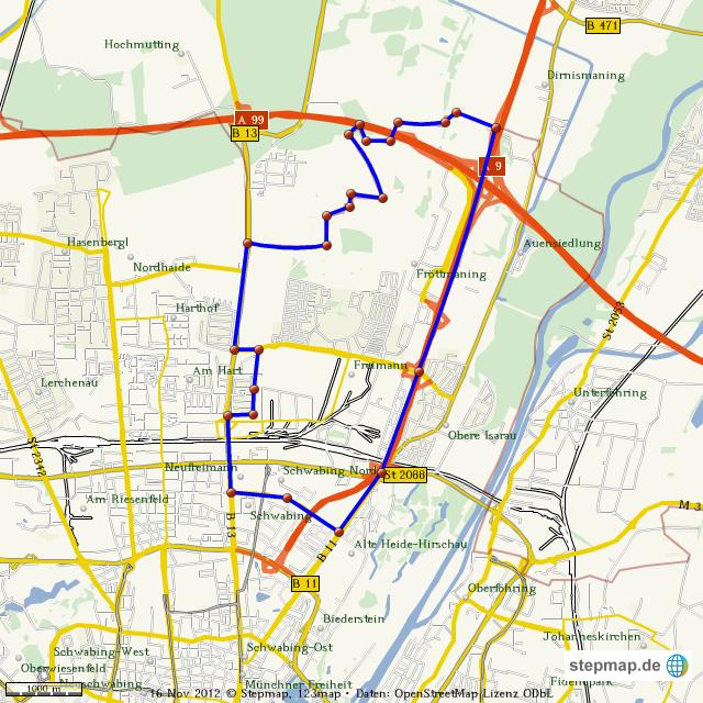 Stepmap Munchen Freimann Landkarte Fur Welt
